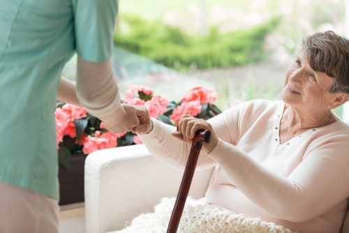 Senior at home because of in-home support services
