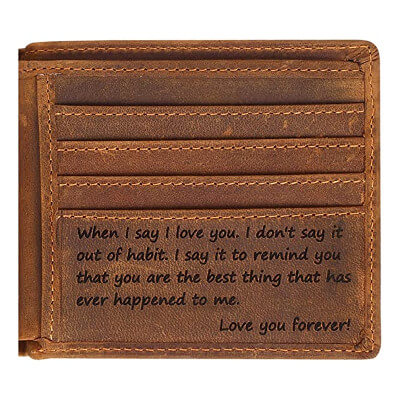 Engraved Personalized Wallet For Men