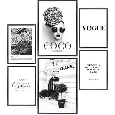 Coco Chanel Home Decor Poster Set