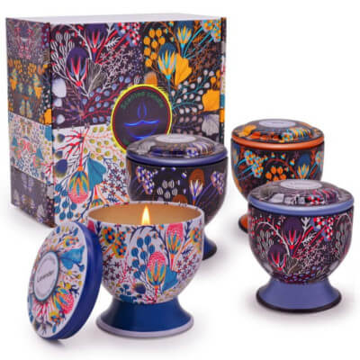 Aromatherapy stress relief scented candles