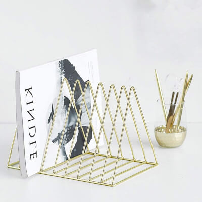 Desktop Organizer Triangle Bookshelf