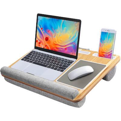 Lap Desk Tablet Phone Holder wood