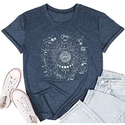Horoscope T-Shirt with Zodiac signs