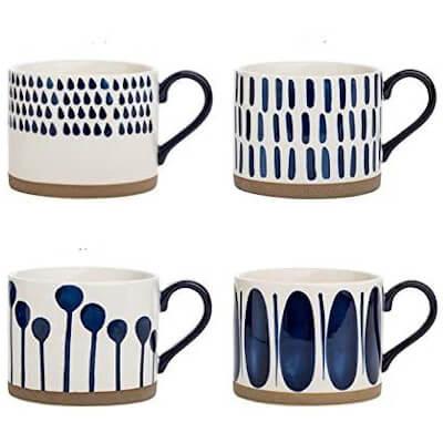 painted porcelain ceramic mugs