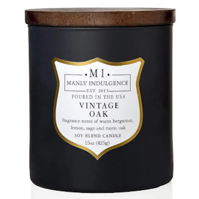 vintage oak scented-jar candle manly indulgence
