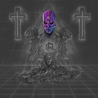 Cyborg Skeleton Head