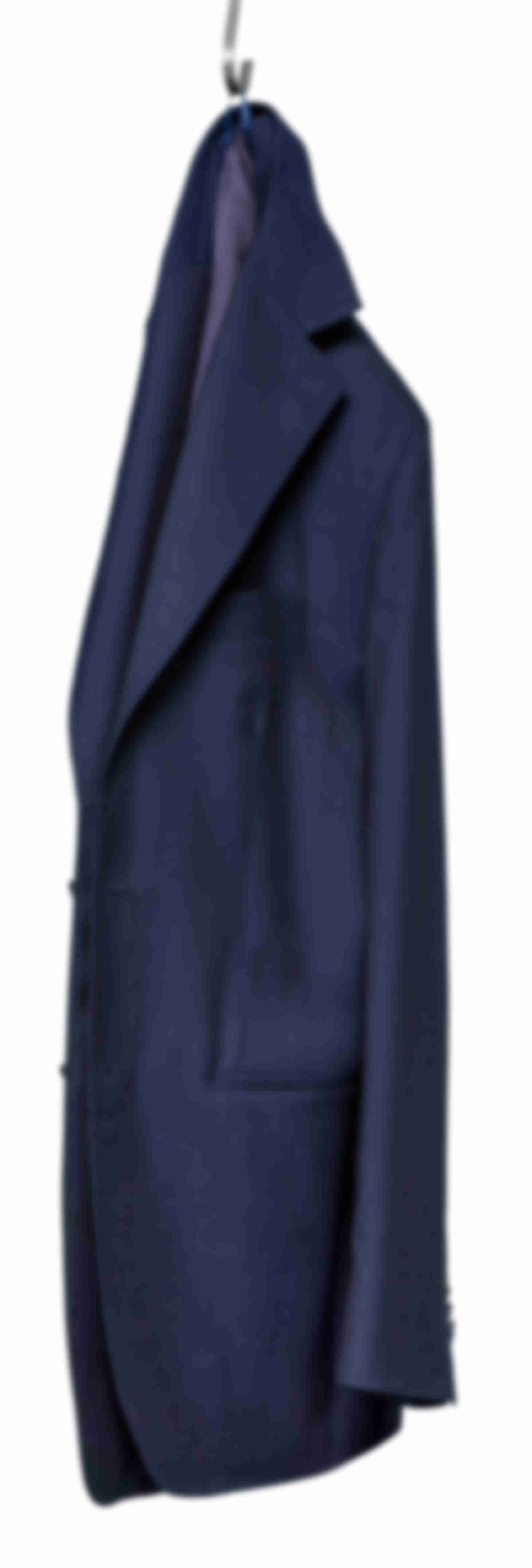 Veste déconstruite bleu moyen Atelier Mesure suspendue