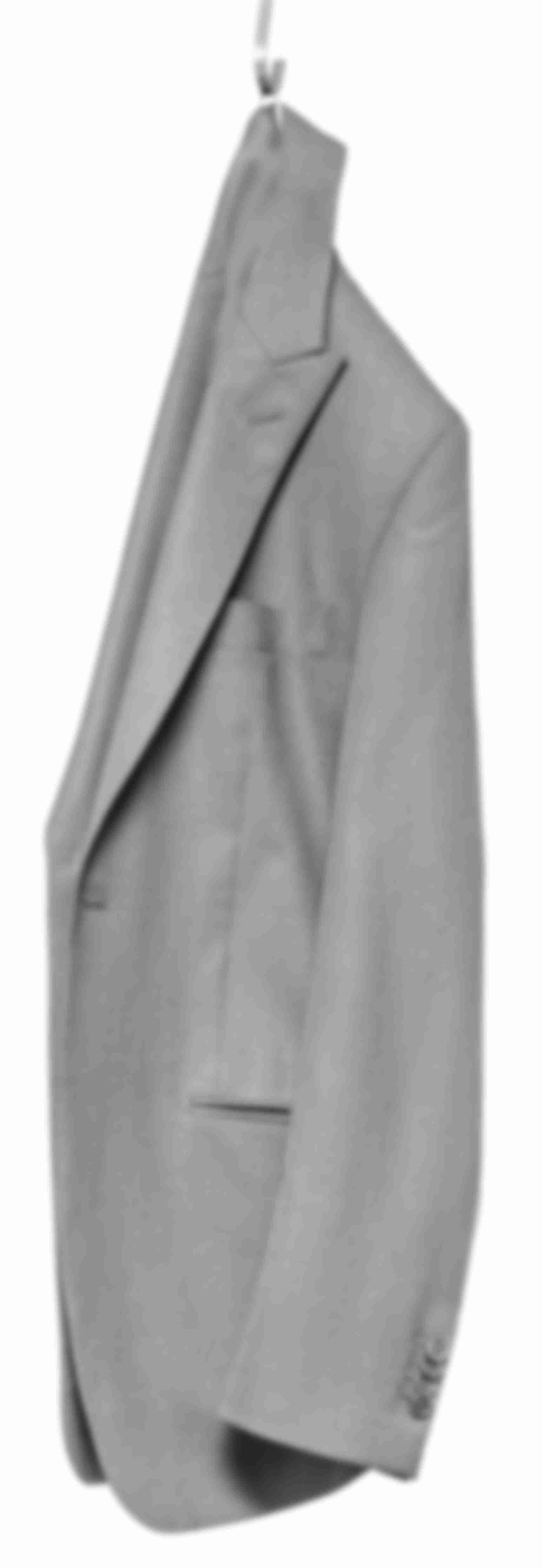 Veste déconstruite grise moyen Atelier Mesure suspendue