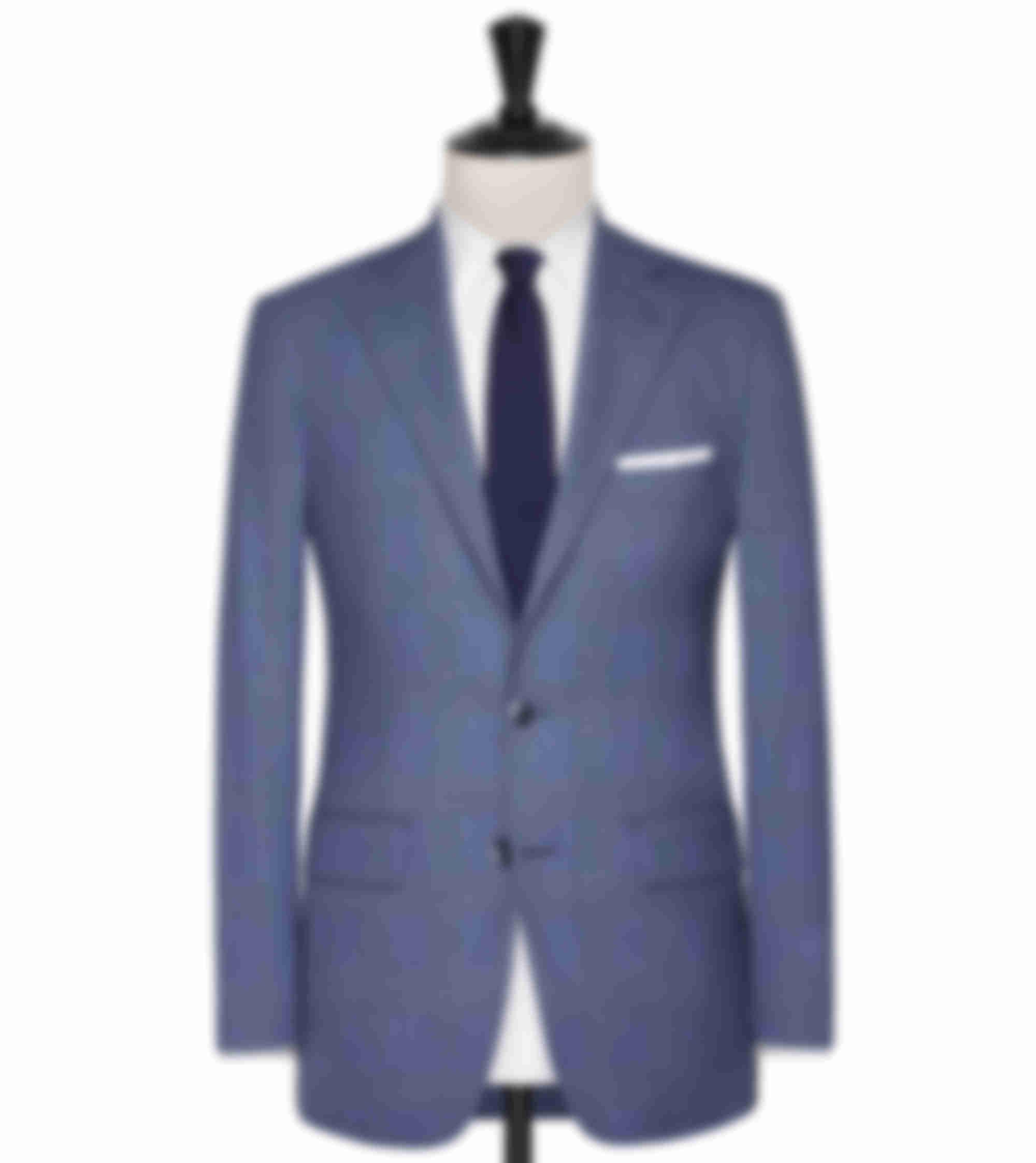 Costume business sur mesure bleu clair carreaux Atelier Mesure