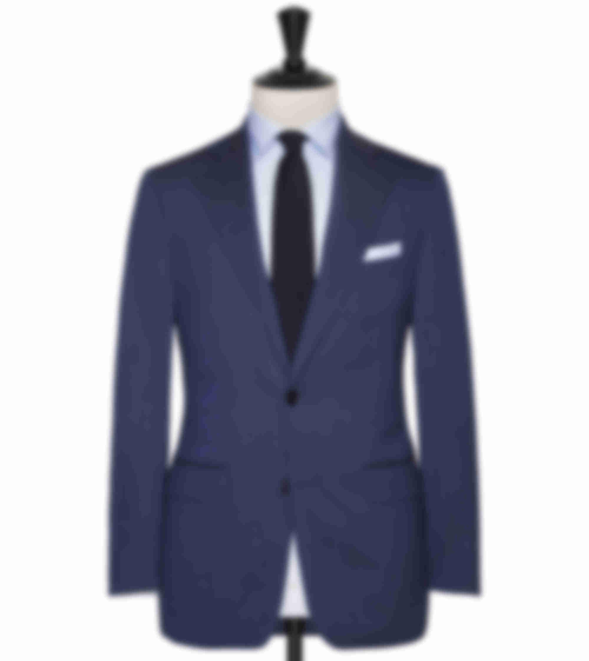 Costume business sur mesure bleu mélangé Atelier Mesure