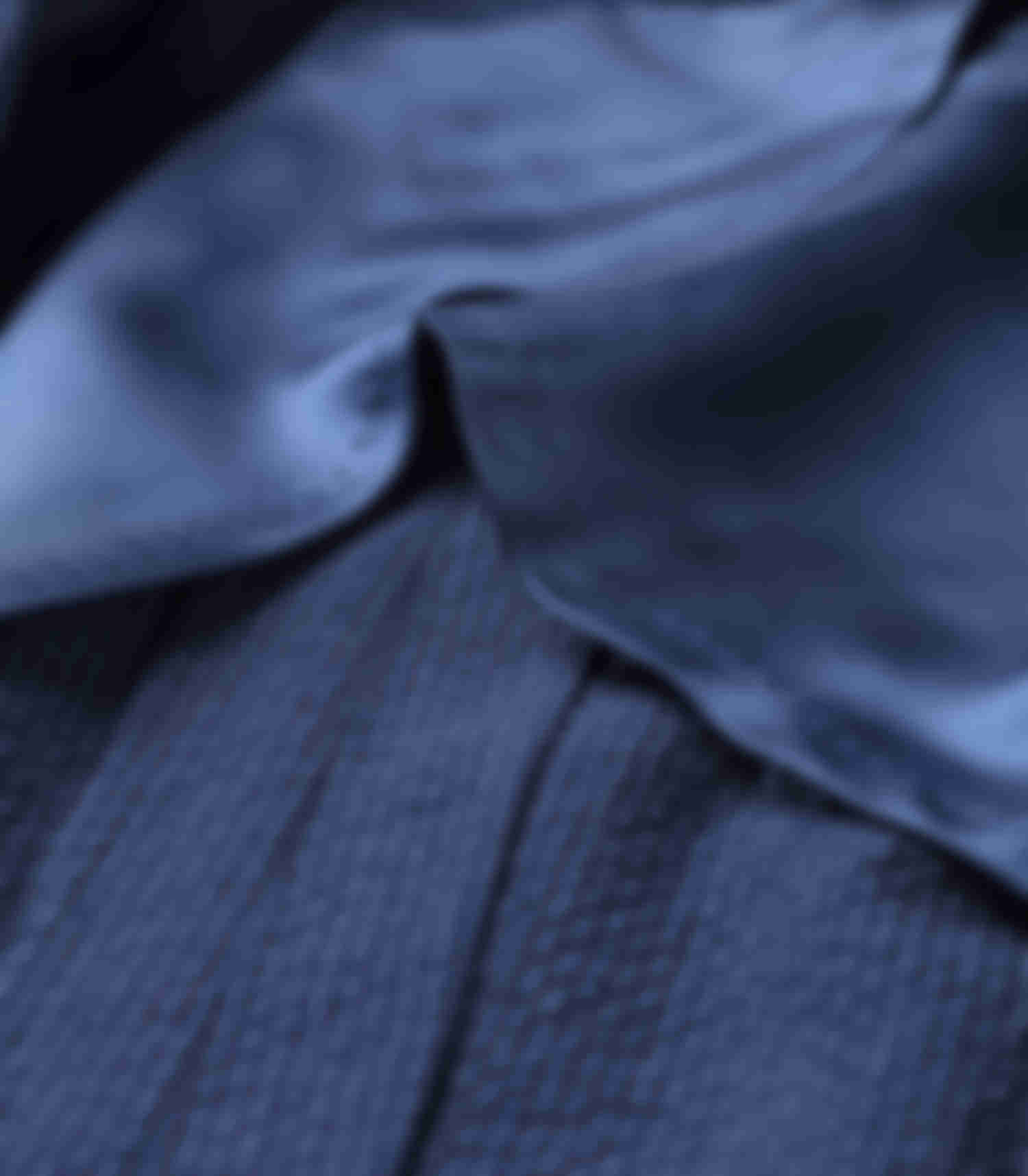 Doublure veste bemberg bleu montée main