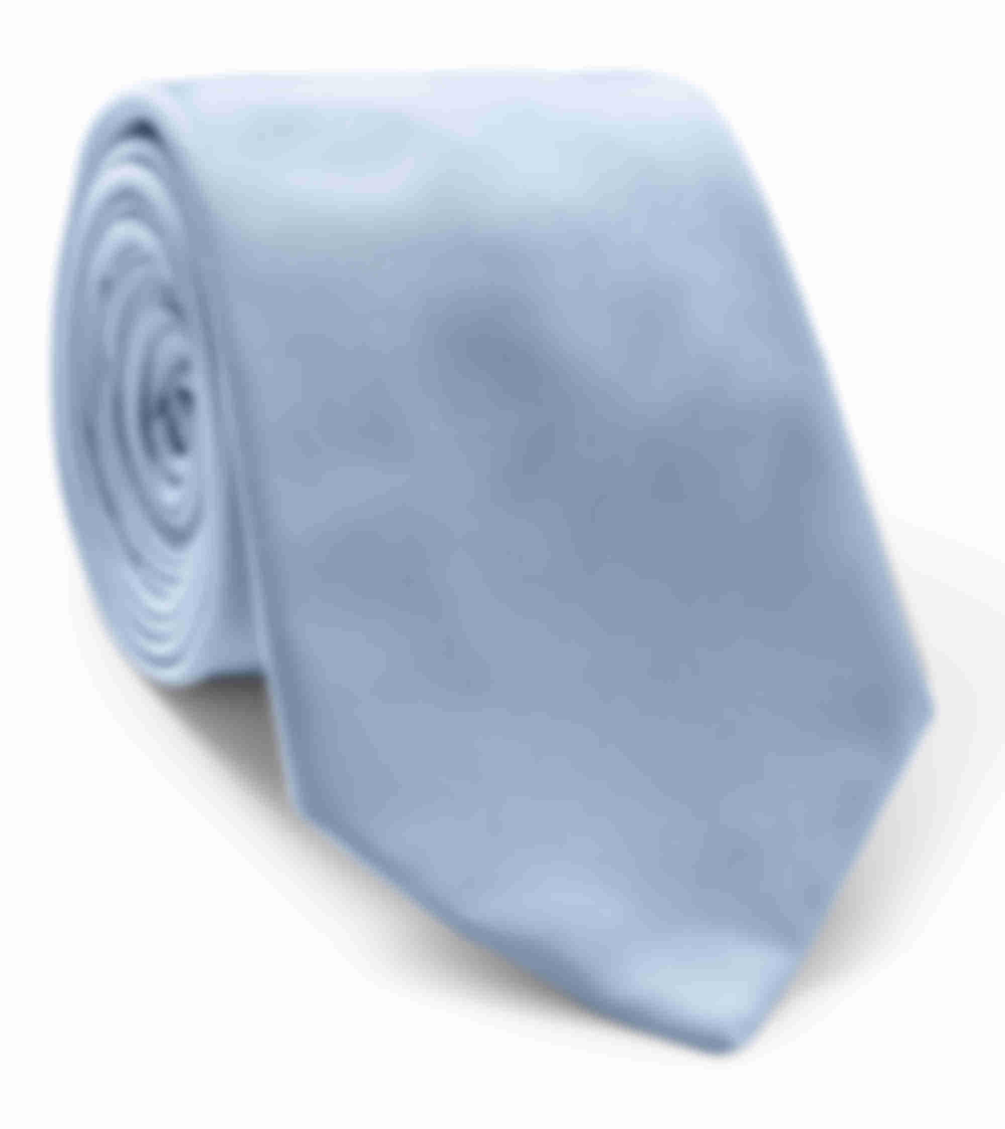 Cravate sur mesure soie bleu ciel par Atelier Mesure