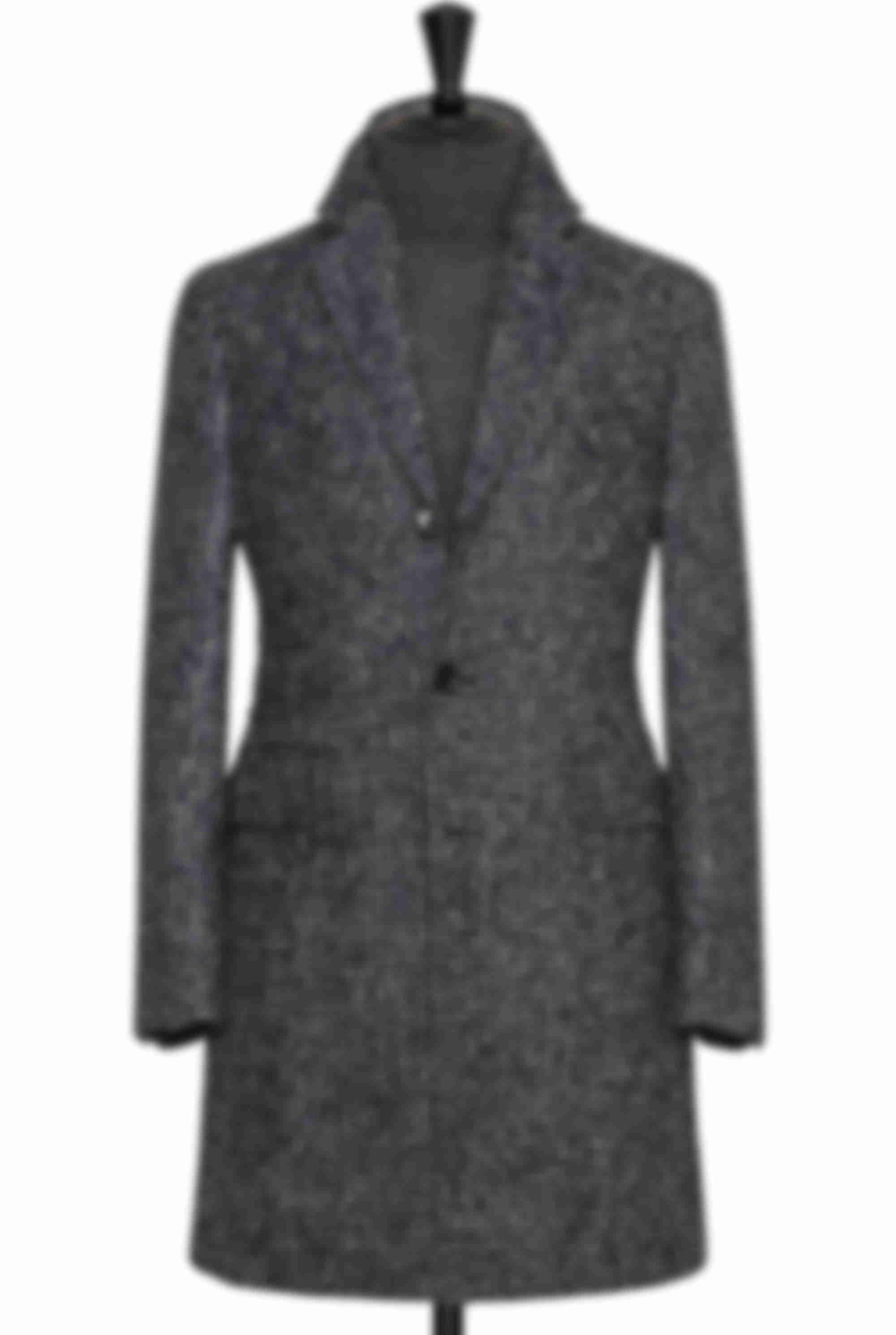 Manteau sur mesure Atelier Mesure grand carreaux laine Loro Piana