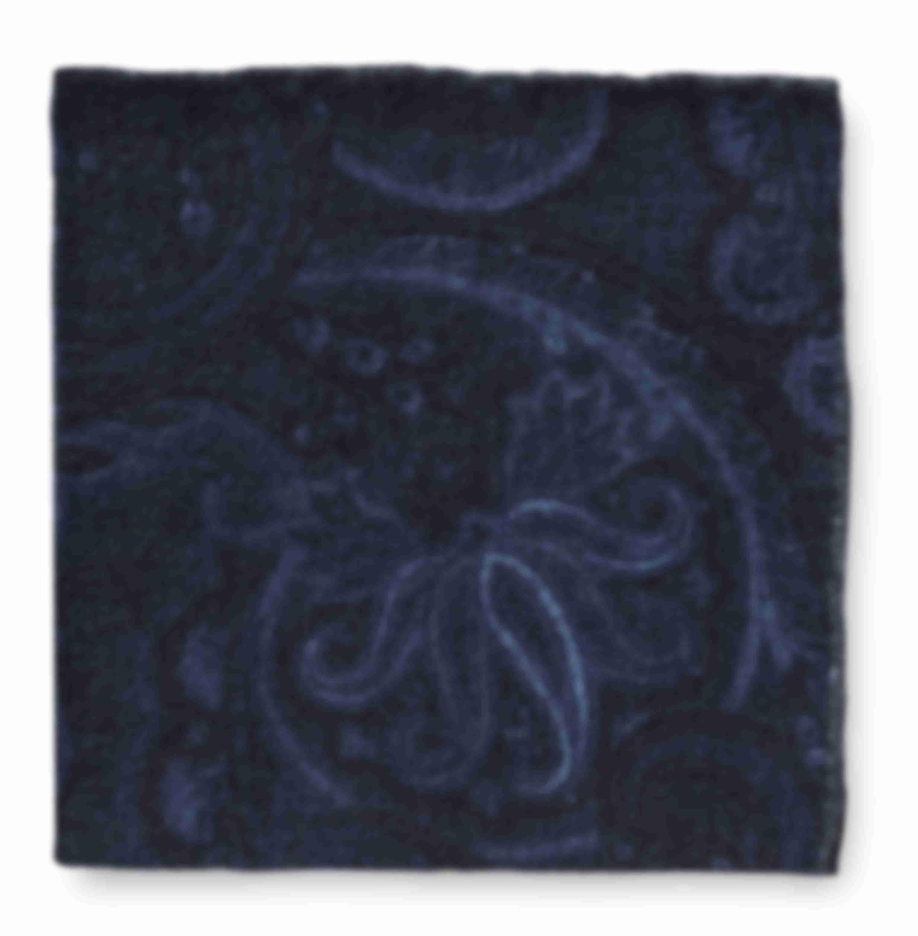 Pochette laine et cachemire paysley Atelier Mesure