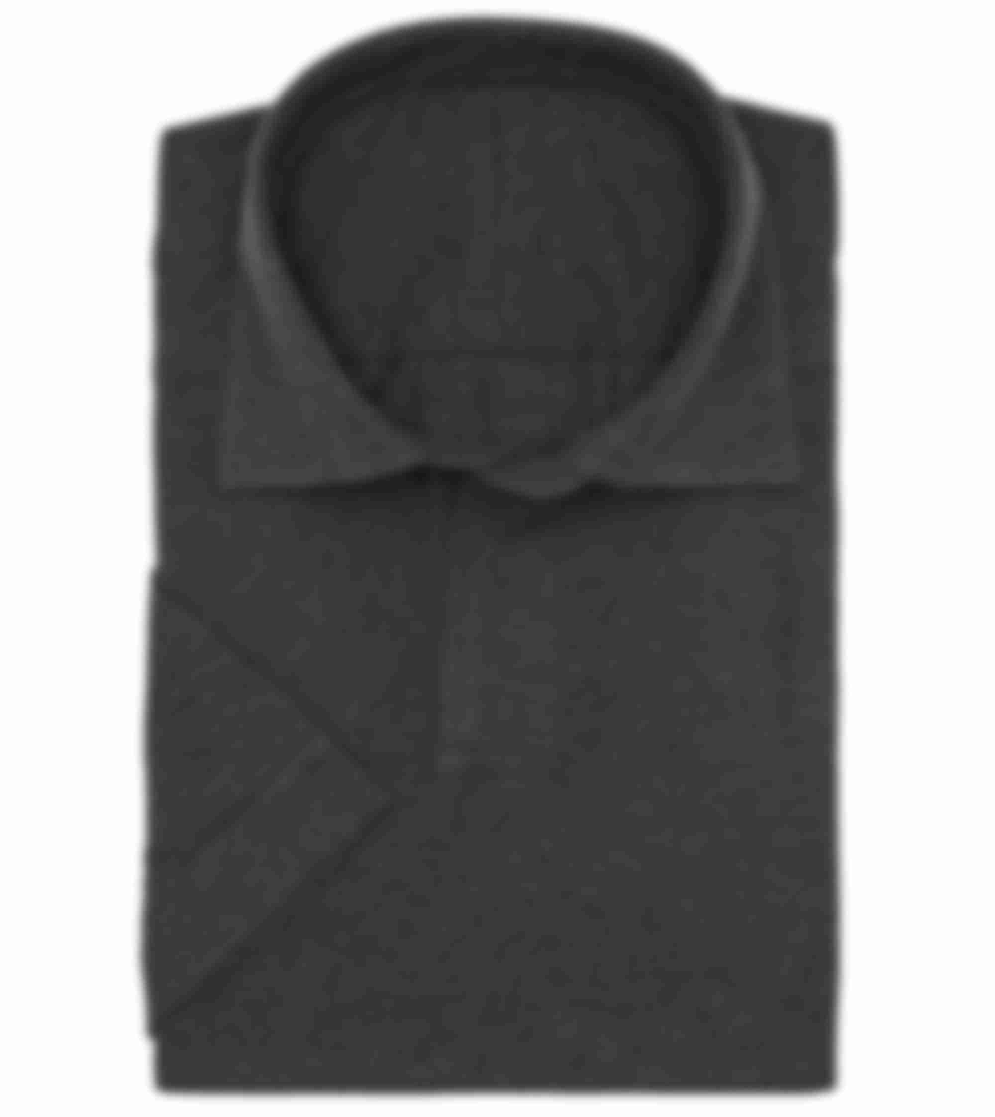 Polo manches courtes sur mesure gris col cutaway Atelier Mesure