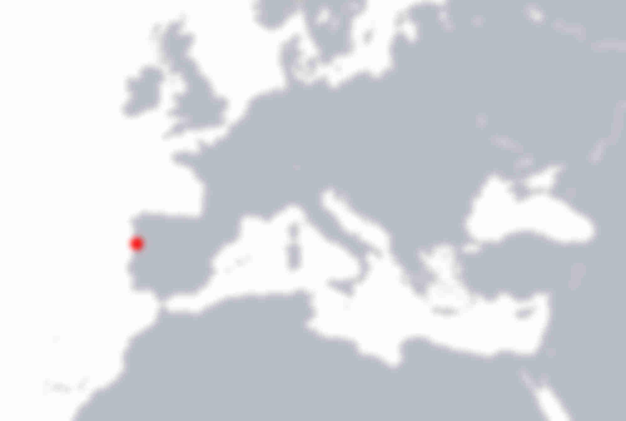 Carte emplacement Atelier Laboratorio Porto au Portugal