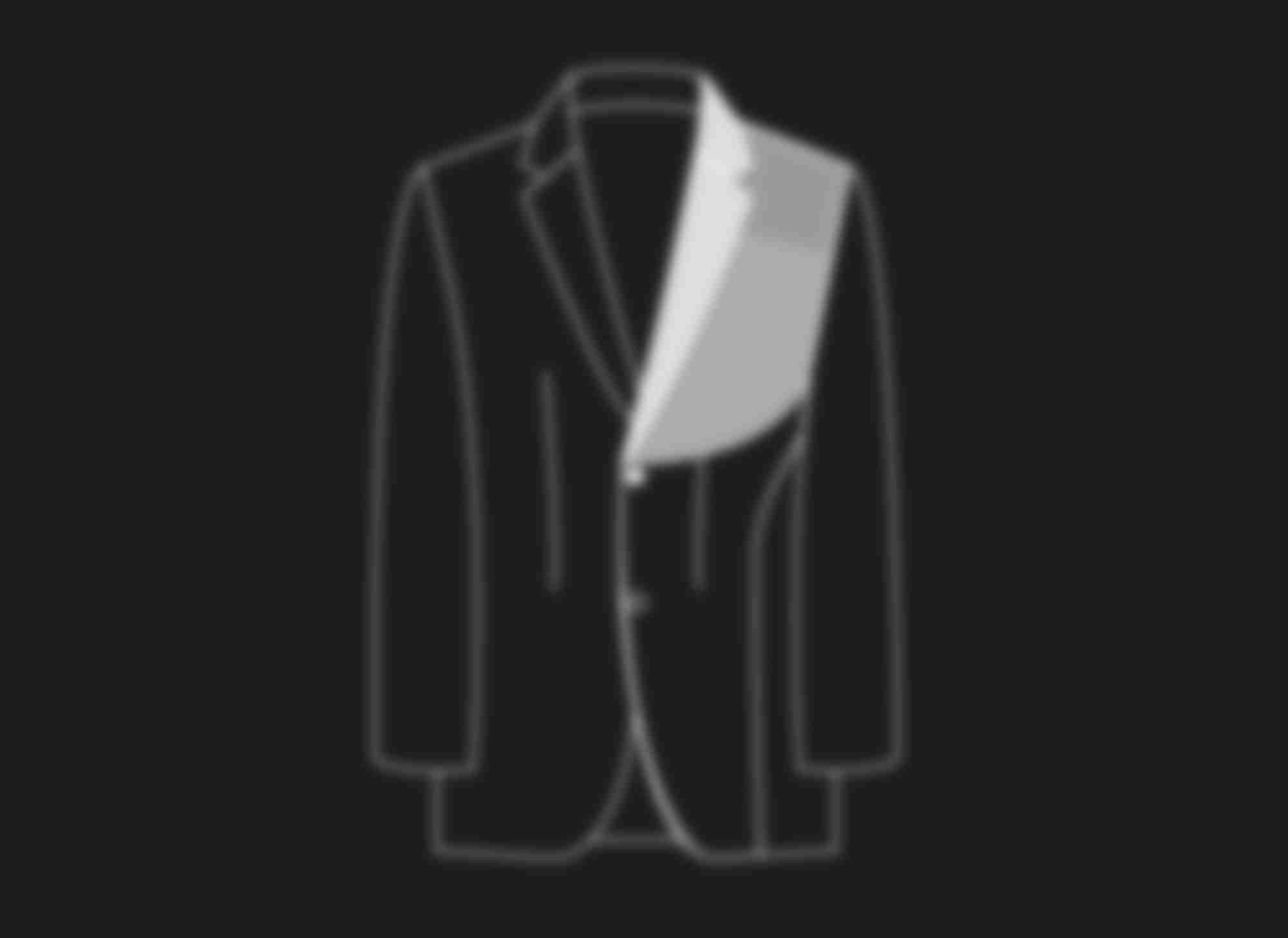 Schéma au trait illustrant la construction traditionnel semi-entoilé des costumes et vestes sur-mesure Atelier Mesure