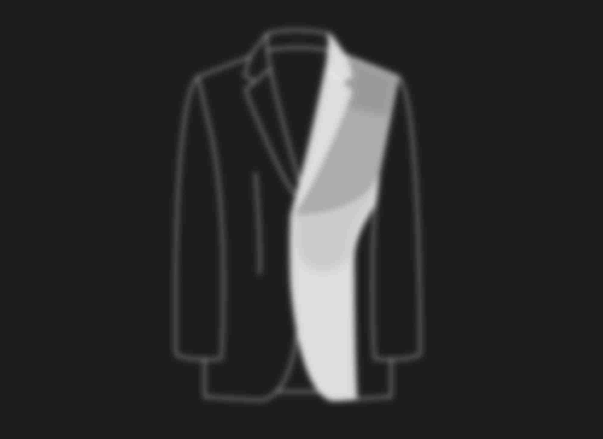 Schéma au trait illustrant la construction traditionnel tout-entoilé des costumes et vestes sur-mesure Atelier Mesure