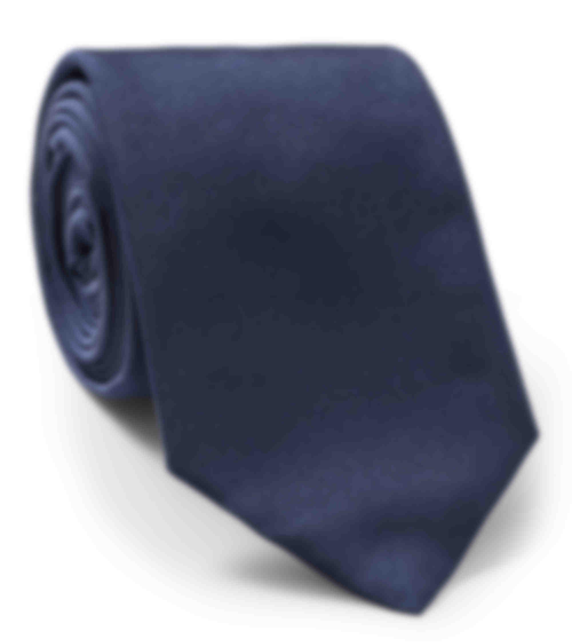 Cravate sur mesure twill soie bleu par atelier mesure