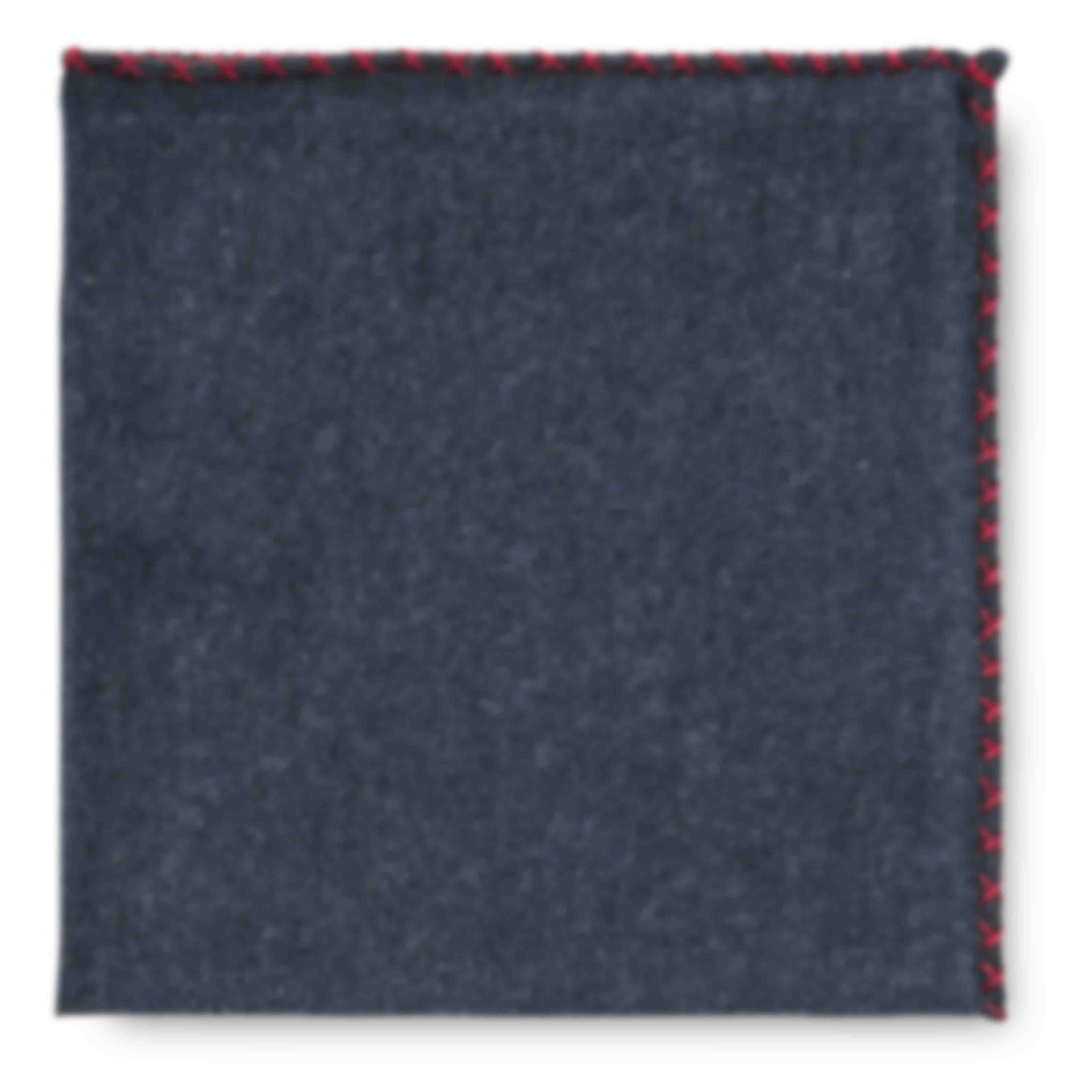 Pochette sur mesure grise surpiqûre rouge fait main Atelier Mesure