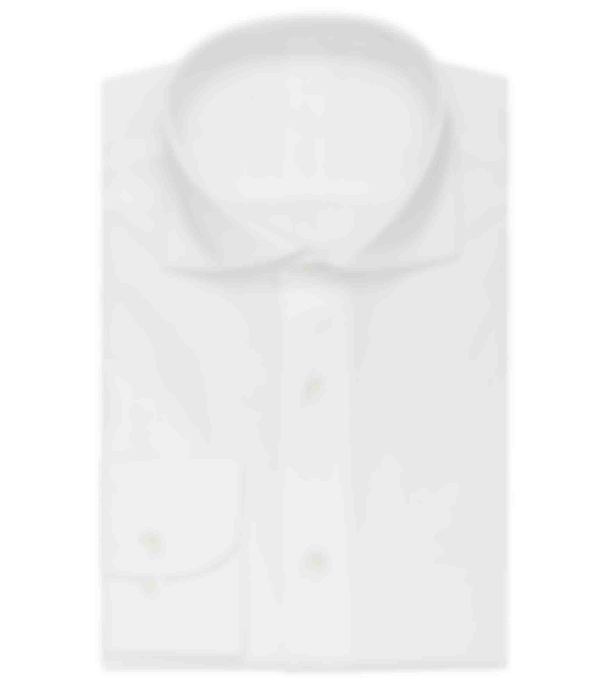 Chemise business oxford blanc sur mesure Thomas Mason de la boutique Atelier Mesure