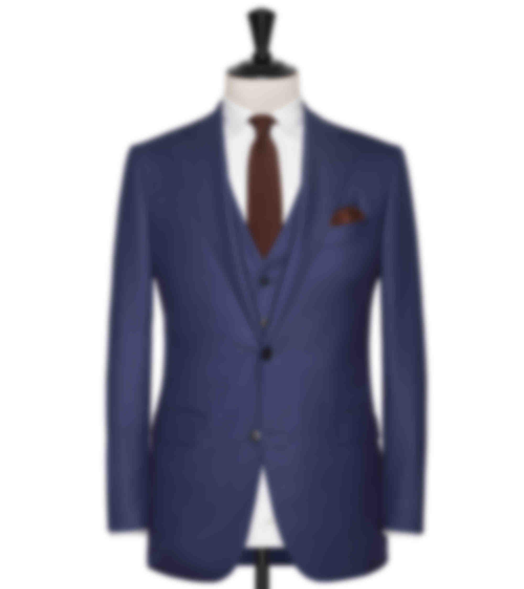 Costume business sur mesure 3 pièces bleu moyen Atelier Mesure