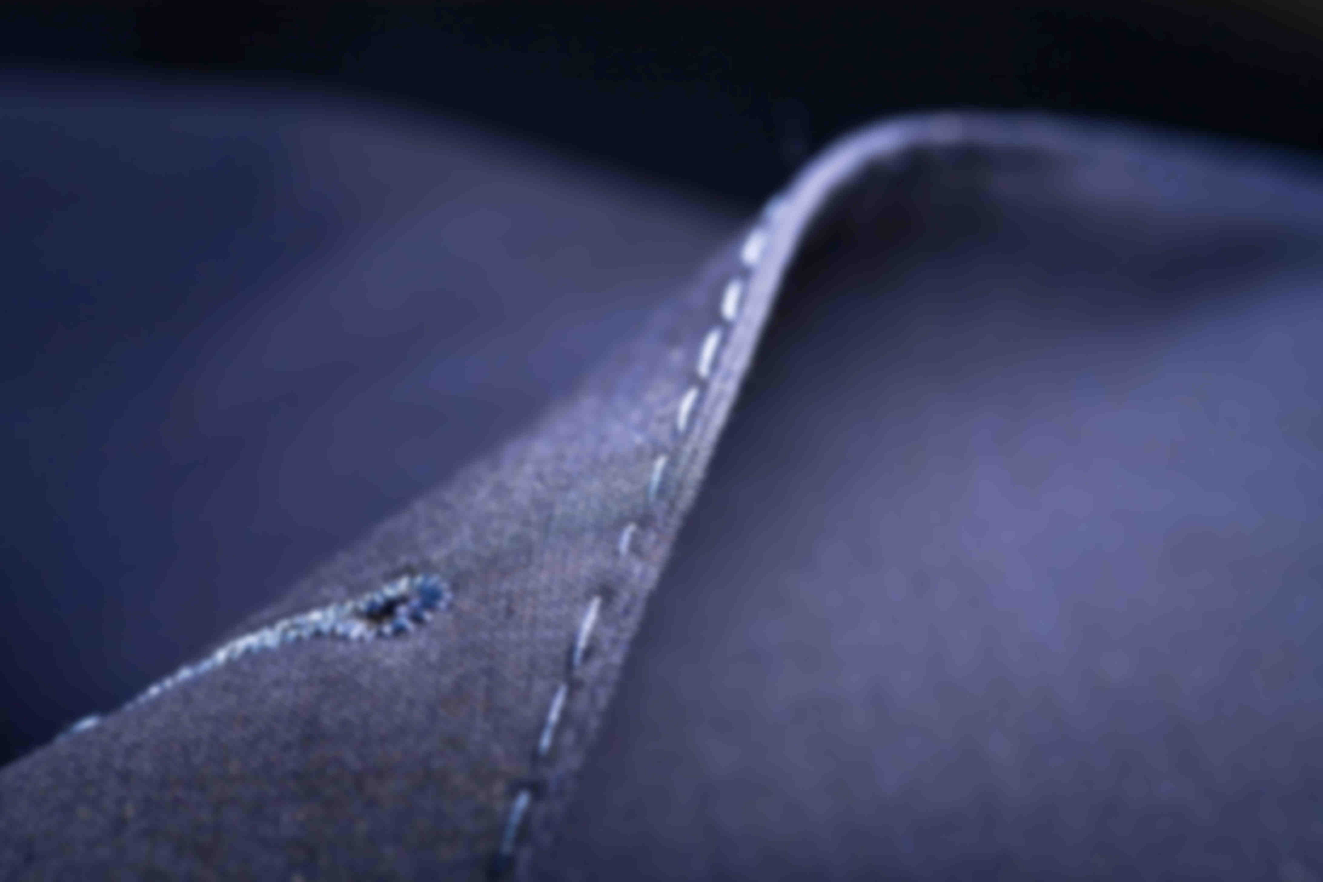 surpiqure AMF piquée main revers veste bleu