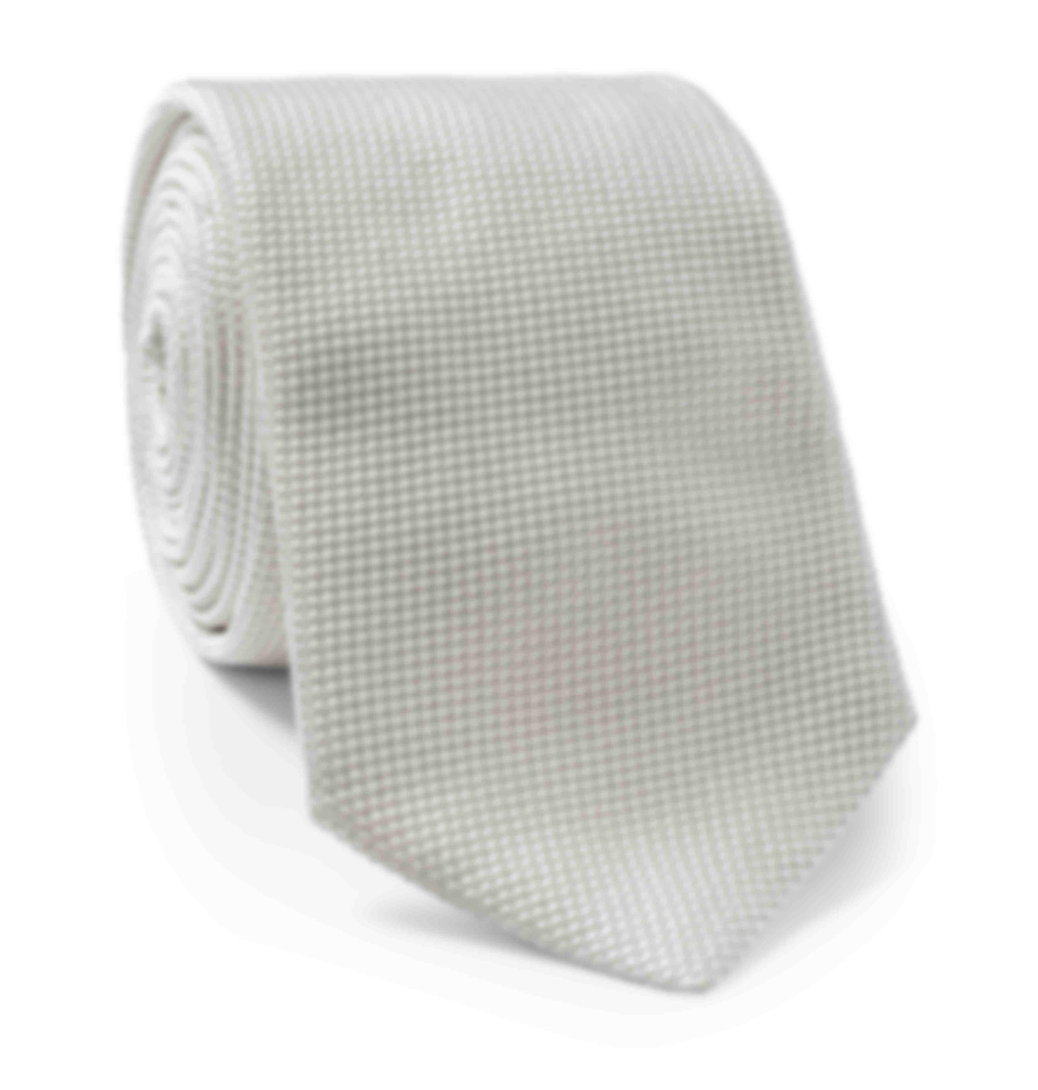 Cravate sur mesure grenadine soie cérémonie par Atelier Mesure