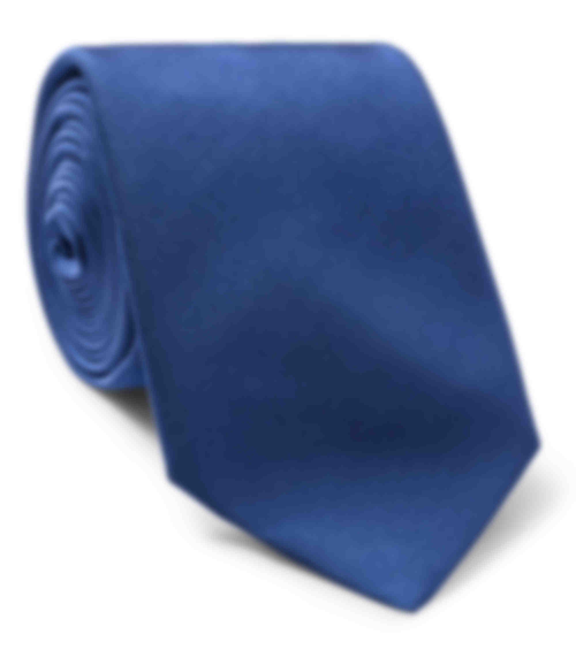 Cravate sur mesure twill soie bleu vif par atelier mesure