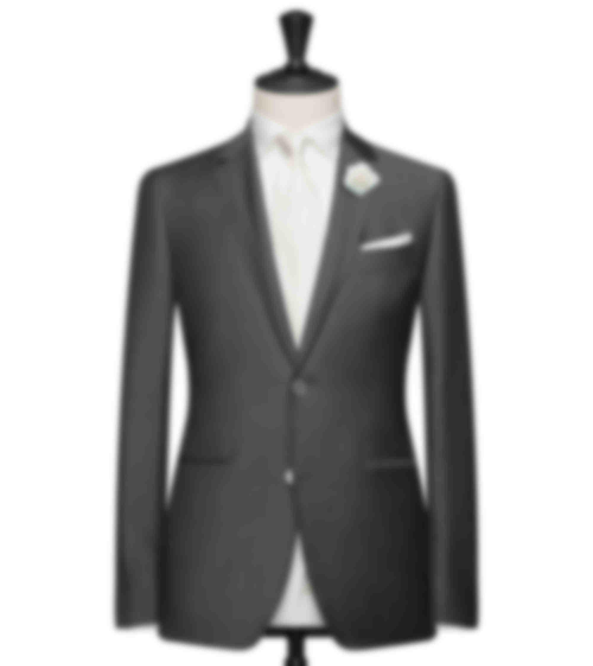 costume sur mesure gris moyen 2 pièces sur mesure
