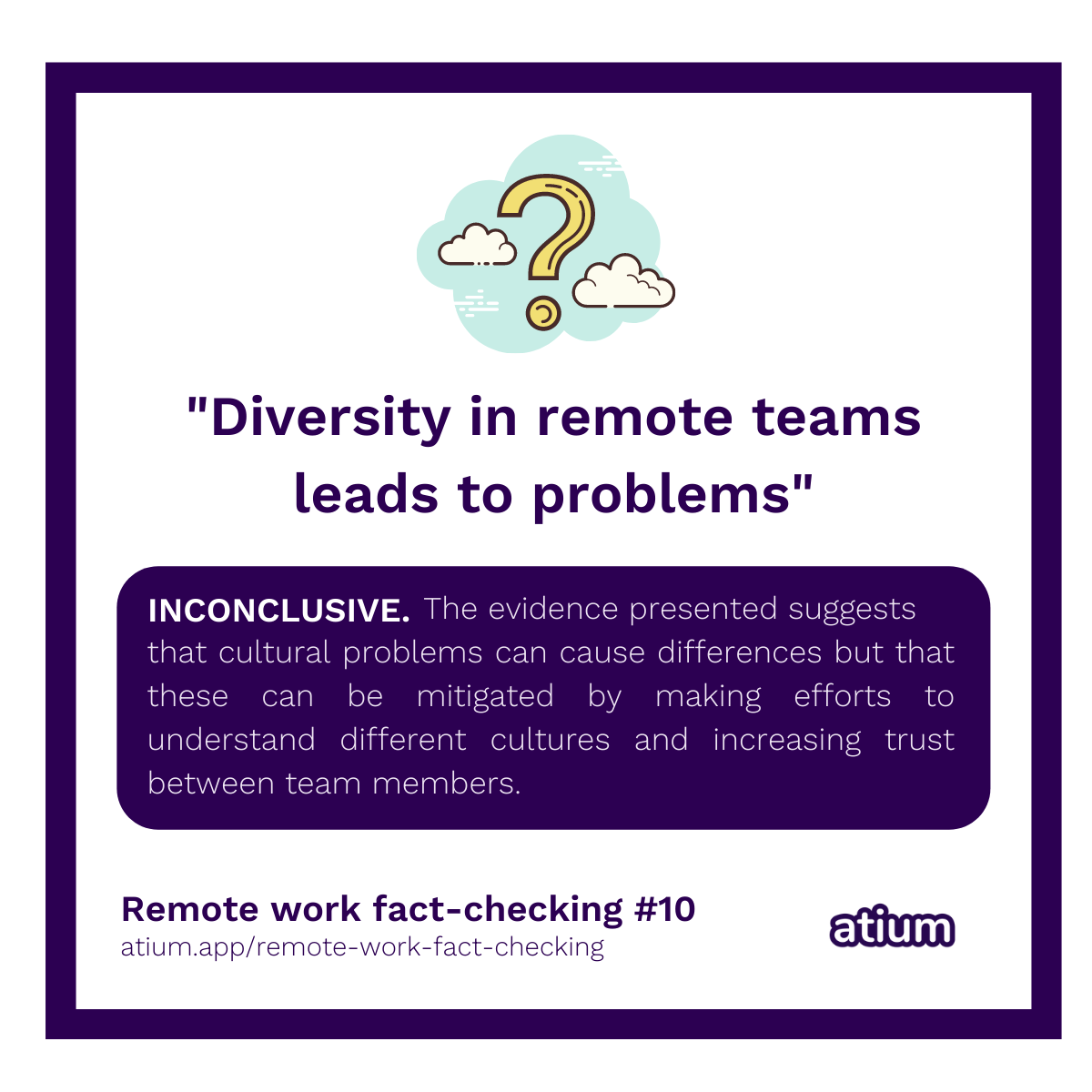 Diversity in remote teams leads to problems