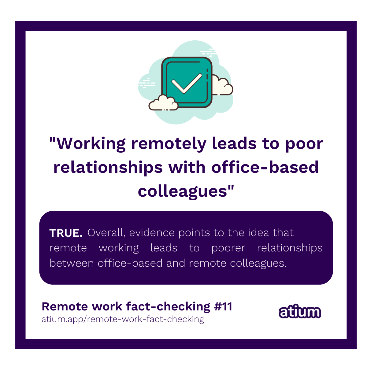 Working remotely leads to poor relationships with office-based colleagues