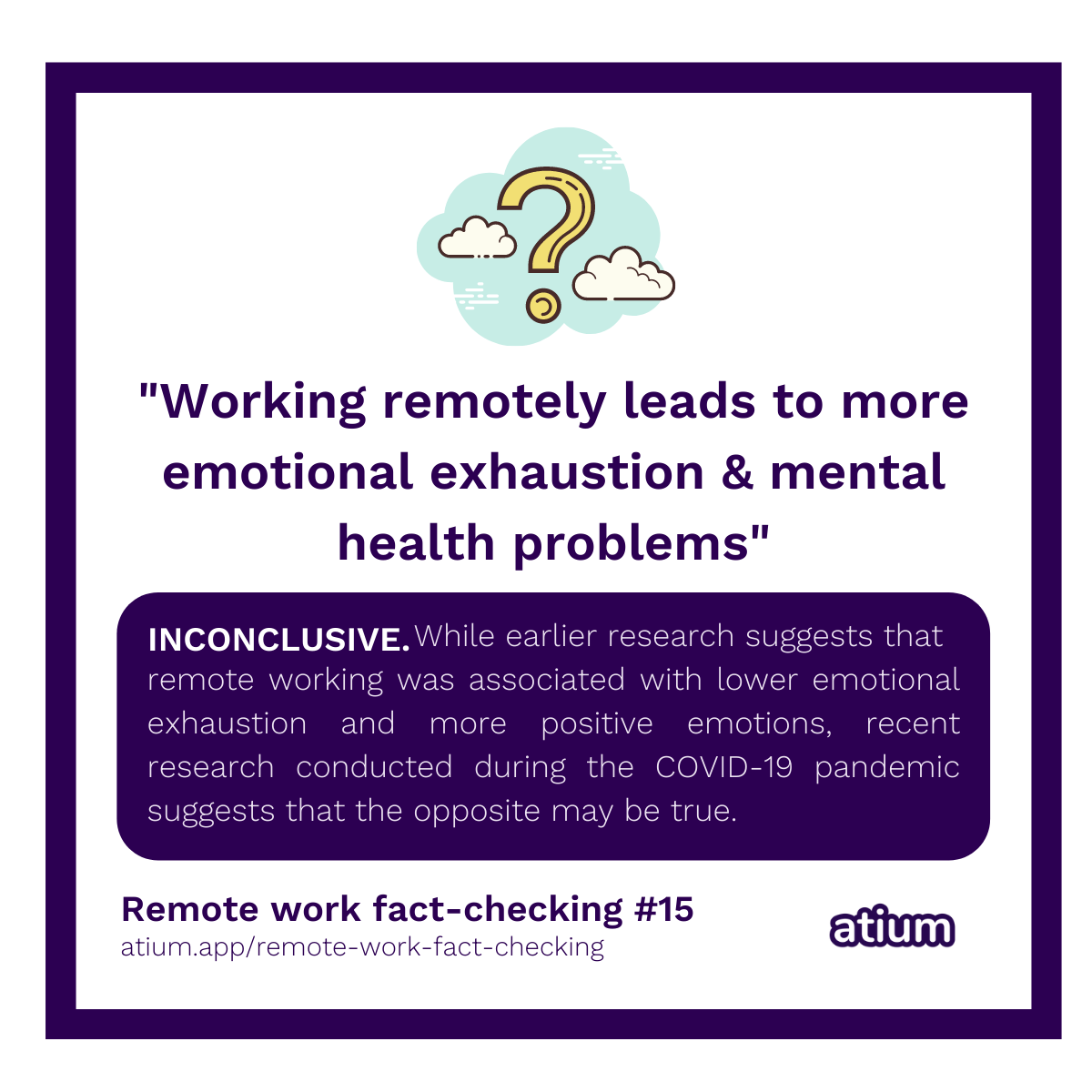 Working remotely leads to more emotional exhaustion & mental health problems