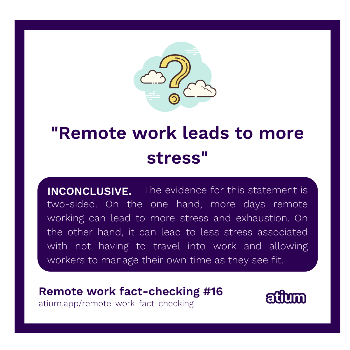 Remote work leads to more stress