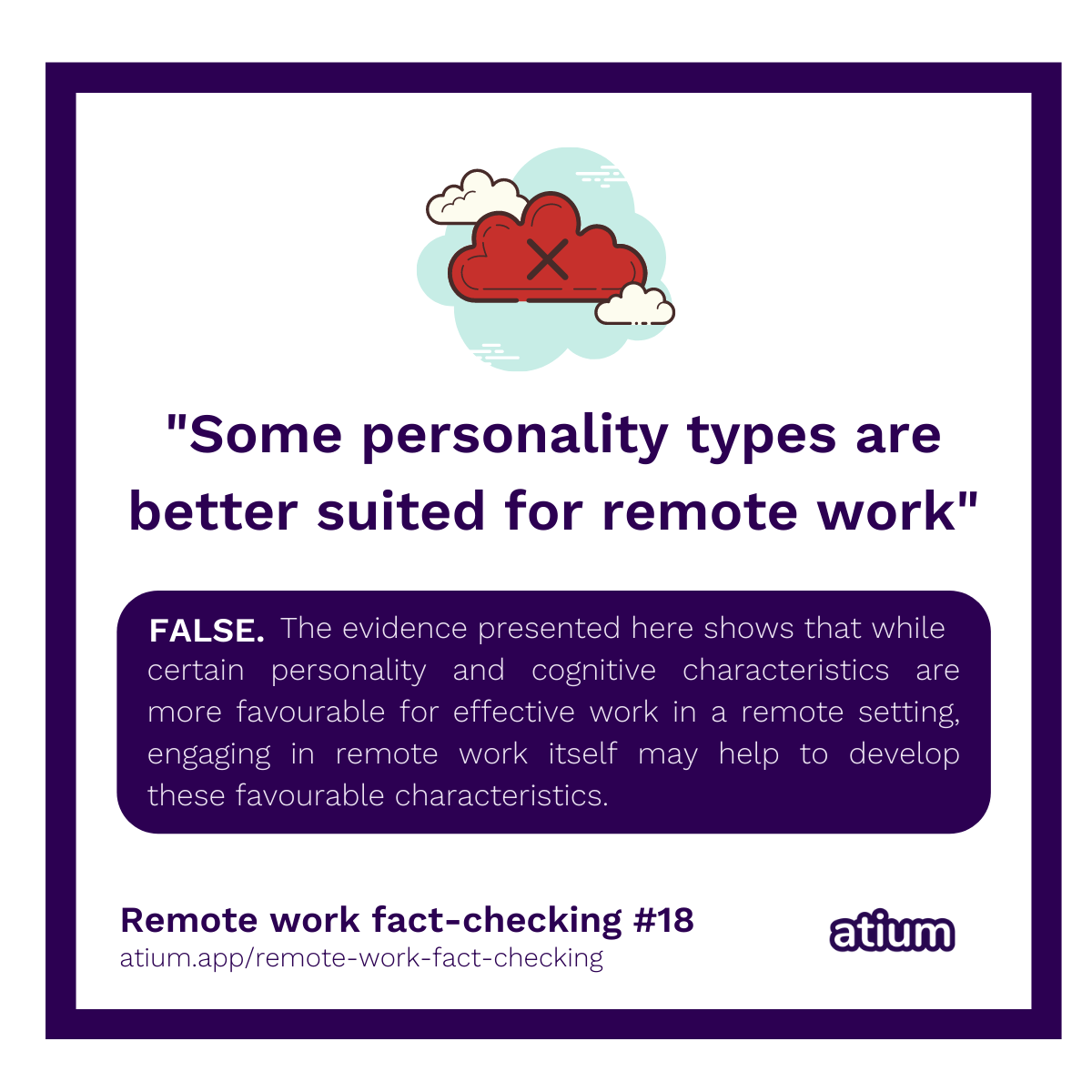 Some personality types are better suited for remote work