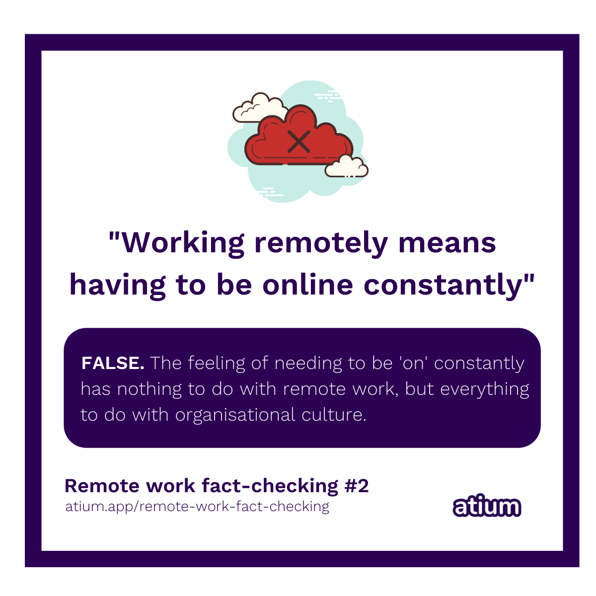 Working remotely means having to be online constantly