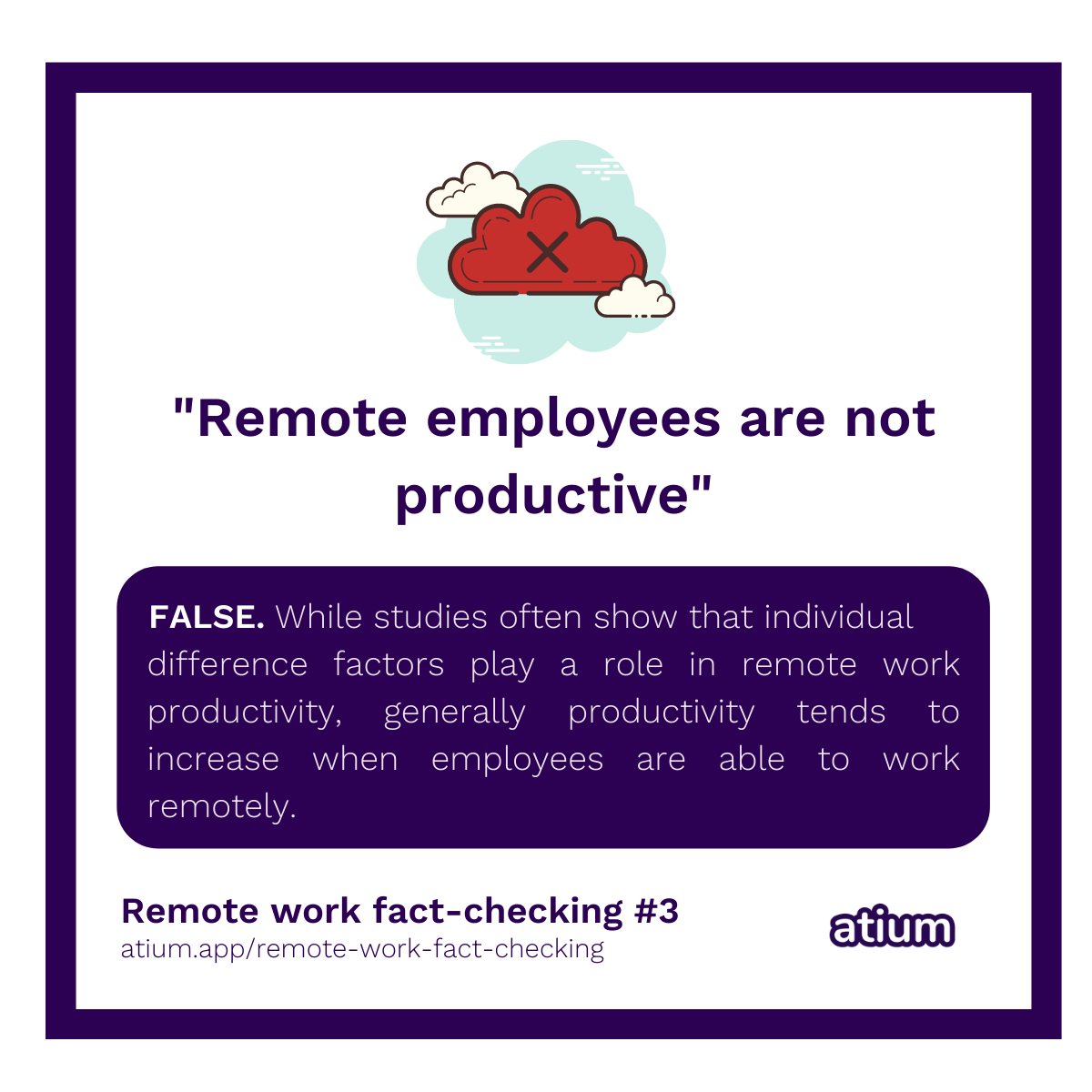 Remote employees aren't productive