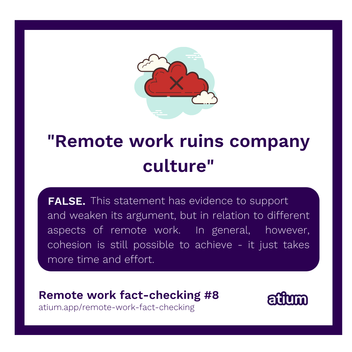 Remote work ruins company culture