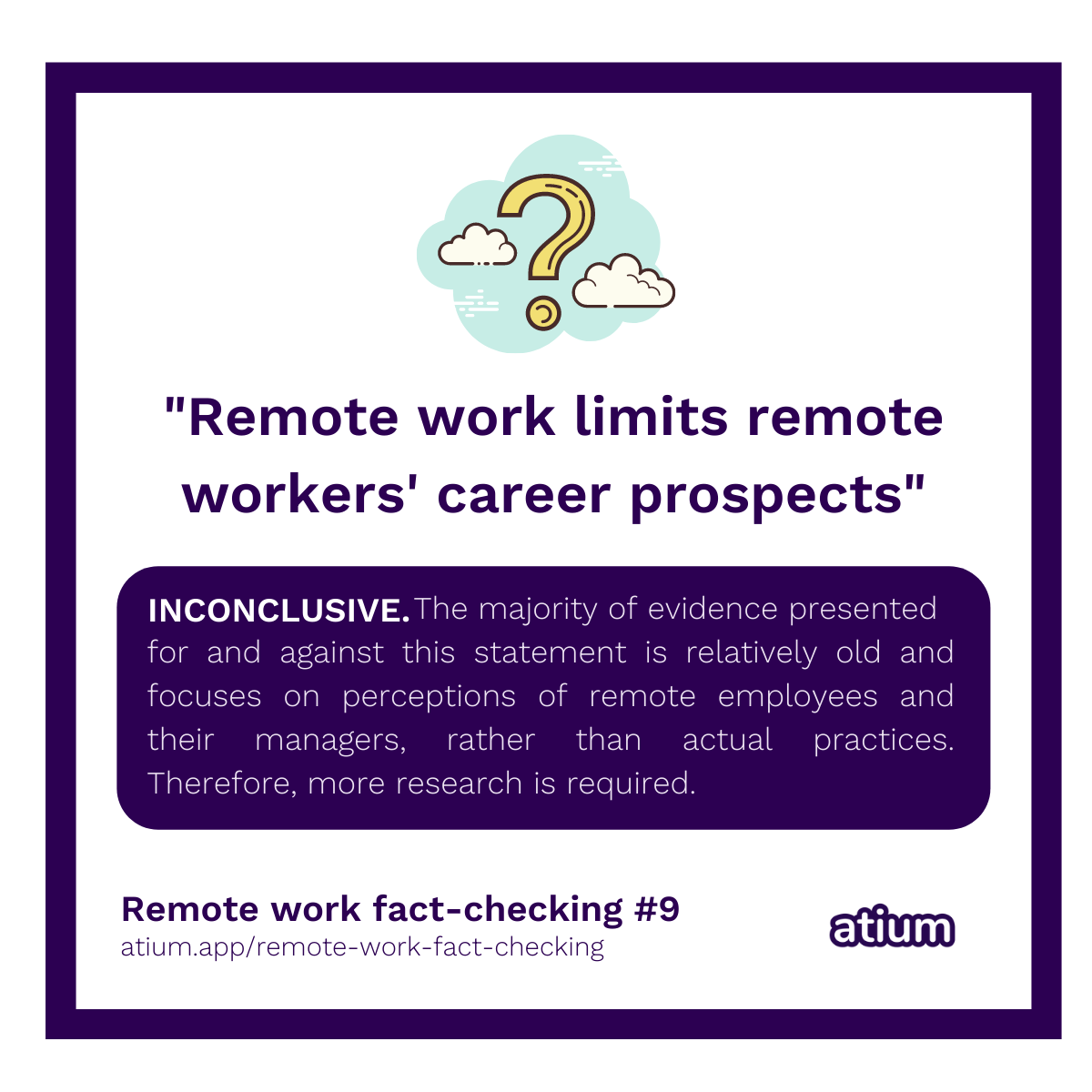 Remote work limits remote workers' career prospects