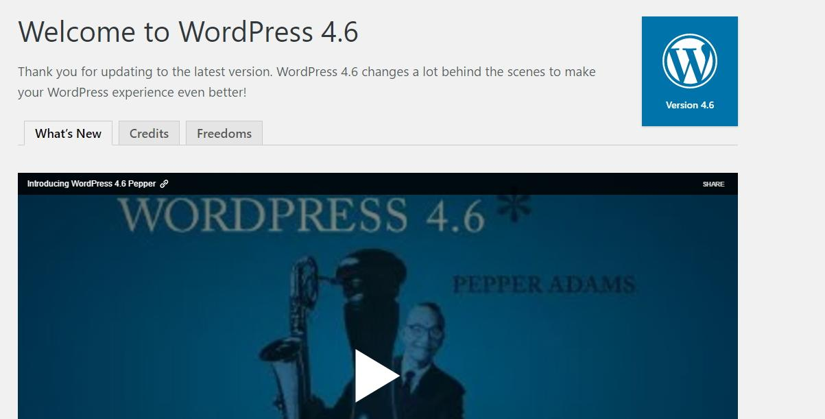 WordPress 4.6 Now Available