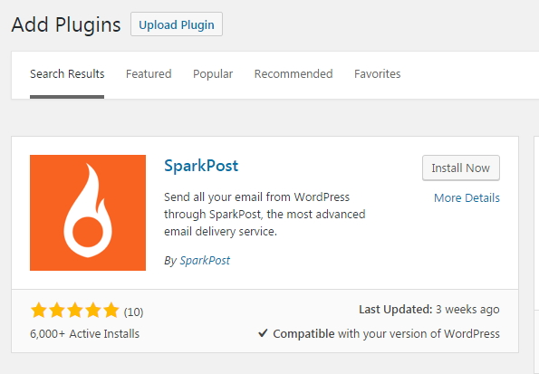 sparkpost wordpress