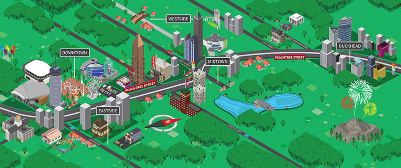 Downtown Atlanta Map Of Attractions on