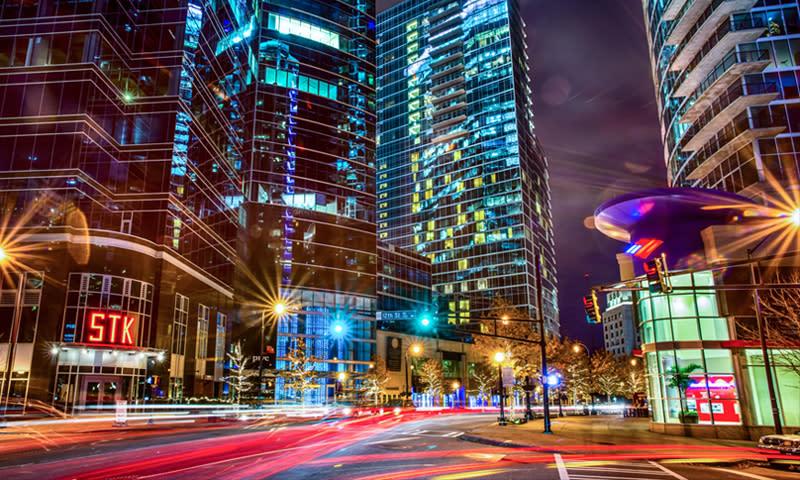 Peachtree Street (night)