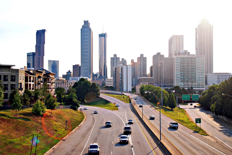 The Atlanta skyline from Jackson State Bridge.