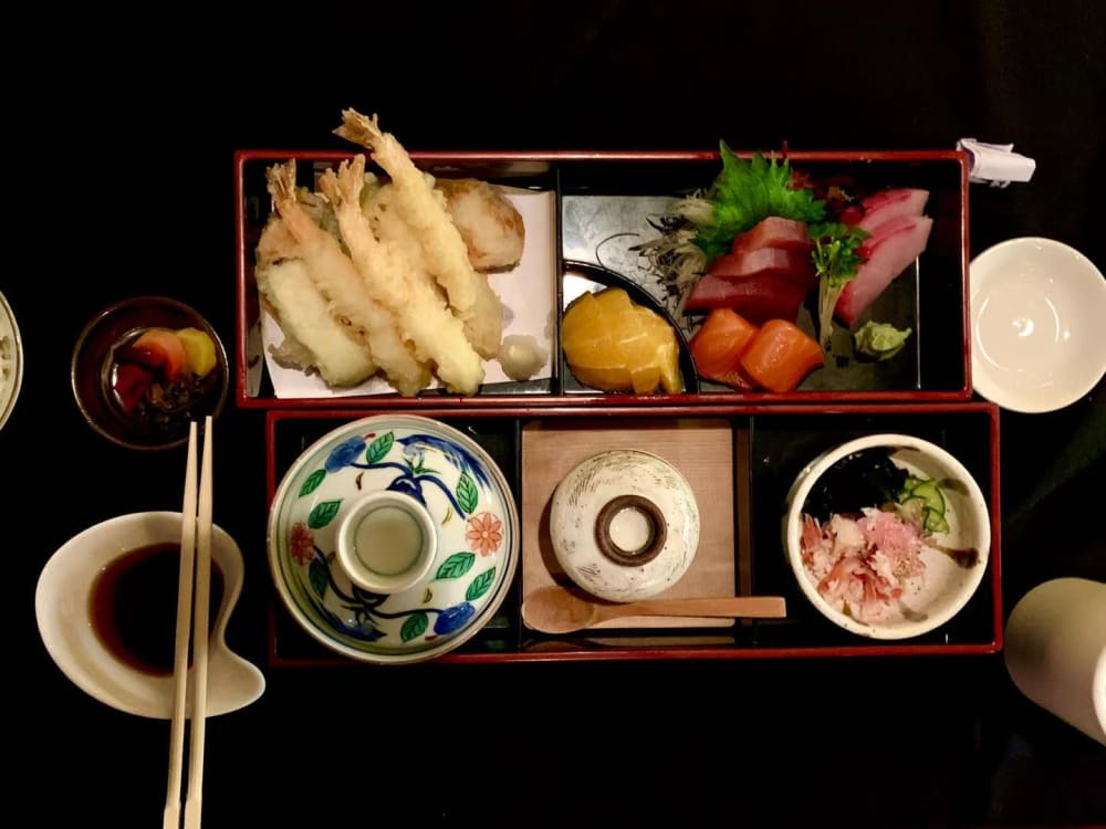 Bento box at Nakato Japanese Restaurant