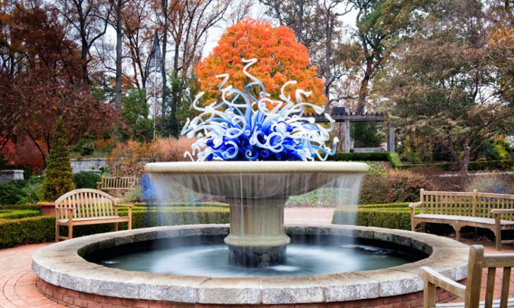 ... Atlanta Botanical Garden   Chihuly Fountain In Autumn