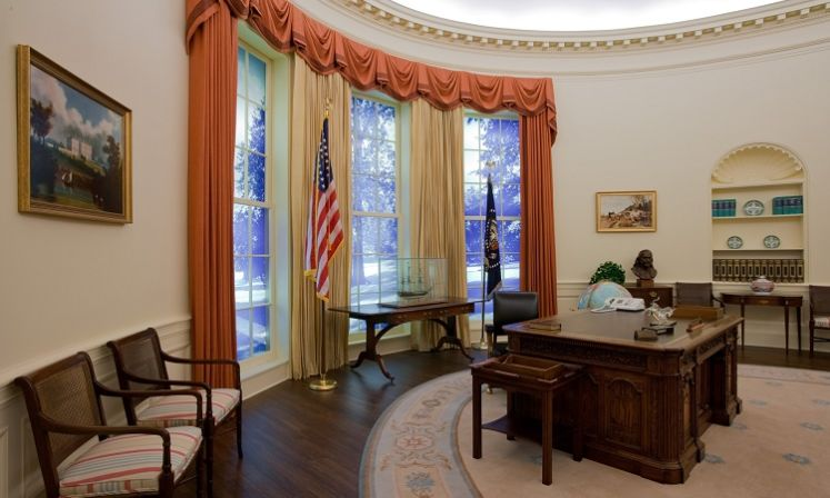 jimmy carter oval office. The Recreation Of Oval Office At Whitehouse During Jimmy Carter\u0027s Presidency, Carter C