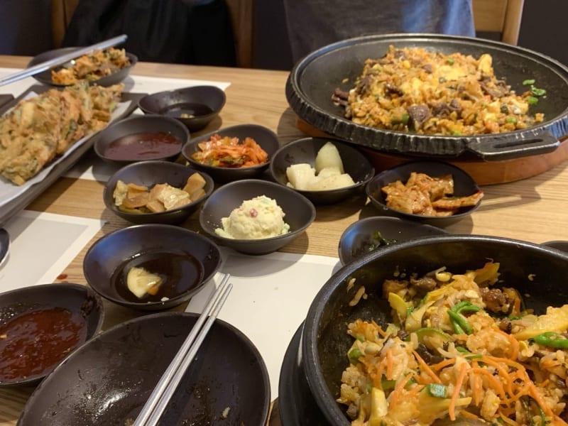 Korean dishes at Dish Korean Cuisine