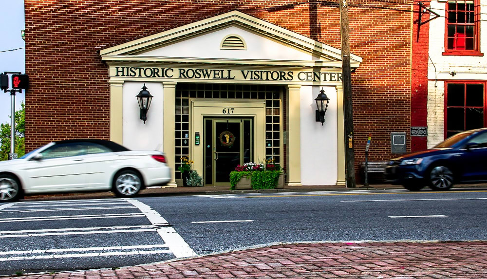 Historic Roswell Visitors Center Building in Roswell, Georgia