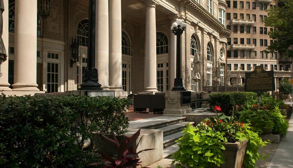 Entrance to the Georgian Terrace Hotel